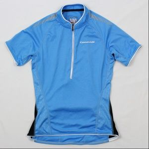 CANNONDALE 1/2 Zip Cycle Jersey Short Sleeve Blue